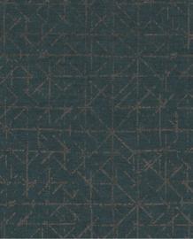 Eijffinger Topaz Behang 394536 Geometrisch/Grafisch/Stoer/Industrieel/Chic/Groen