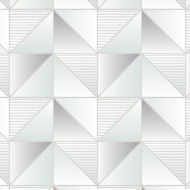 Rasch Galerie Geometrix Behang GX37632 Geometrisch/Modern/Driehoek/Mint