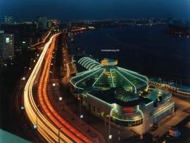 Fotobehang. Rotterdam bij avond 2
