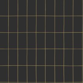 Esta Home Black & White Behang 155-139132 Modern/Grafisch/Blok/Tegeltjes/Zwart/Goud