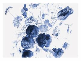 Kek Amsterdam Behang WP 223 Royal Blue Flowers 1 Fotobehang - Dutch Wallcoverings