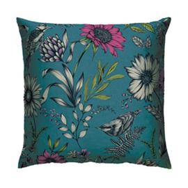 Sierkussen Botanical Songbird Teal 008367 Bloom - Arthouse/Atwalls