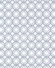 Eijffinger Grenada Behang 367037 Modern/Geometrisch/Scandinavisch/Ecru/Blauw