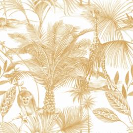 Dutch Wallcoverings Jungle Fever Behang JF3503 Kidatu/Tropical/Apen/Giraf/Dieren