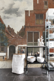 Painted Memories View of Houses in Delft 8012 Behang - Dutch Wallcoverings