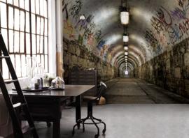 Noordwand Grunge Behang G45281 Tunnel/Stoer/Graffiti/Industrieel Fotobehang/Wandpaneel