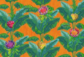 Hookedonwalls Breeze Fotobehang BRD24100 Fantasie Tree/Bloemen/Kameleon/Natuurlijk