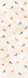Behangexpresse Kate & Andy Fotobehang INK7433 Fun Birds Sand/Vogels/Dieren/Kinderkamer Behang