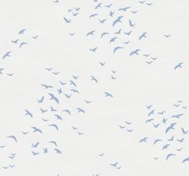 Dutch Wallcoverings Navy, Grey & White Behang BL70428 Lucht/Meeuwen/Vogels/Natuurlijk