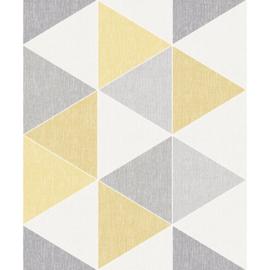 Arthouse Retro House Behang 908206 Scandi Triangle Yellow/Modern/Ruiten