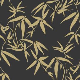 Origin City Chic Behang 353-347740 Bamboe/Bladeren/Botanisch/Zwart/Goud