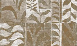 Arte Ligna Behang 42024 Canopy/Metaalfolie/Exclusieve Wandbekleding Botanisch Brons