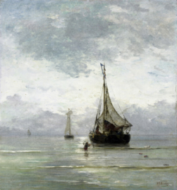 Painted Memories 2 Fotobehang 8049 Calm Sea/Zee/Boten/Landelijk Dutch Wallcoverings
