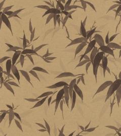 Rasch Kimono Behang 409765 Botanisch/Bladeren/Natuurlijk/Landelijk/Goud/Bruin