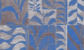 Arte Ligna Behang 42021 Canopy/Metaalfolie/Exclusieve Wandbekleding Botanisch Blauw