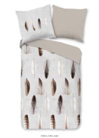 Muller Textiles Dekbedovertrek 2348 Lisa Multi/Feathers/Veren/Natuurlijk/Modern/1 Persoons Good morning