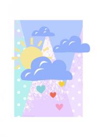 Komar/Disney Edition4 Poster/Affiche WB088 Wolken/Zon/Hartjes/Winnie Pooh Clouds Afbeelding