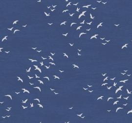 Dutch Wallcoverings Navy, Grey & White Behang BL70412 Meeuwen/Lucht/Zee/Natuurlijk
