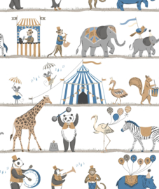 Noordwand Just 4 Kids 2 Behang G56546 Circus/Dieren/Kinderkamer