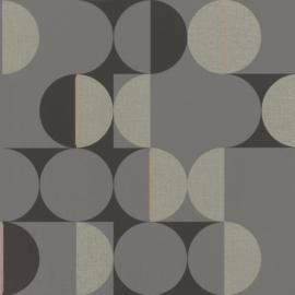Onszelf Botanique Behang 538052 Modern/Grafisch/Cirkels/Grijs Rasch