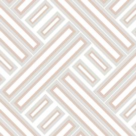 Rasch Galerie Geometrix Behang GX37600 Geometrisch/Modern/Rose Gold