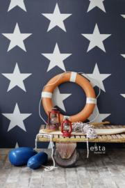 Esta Home Regatta Crew Surf Edition Behang 148-138978 Grote Sterren/Blauw/Wit