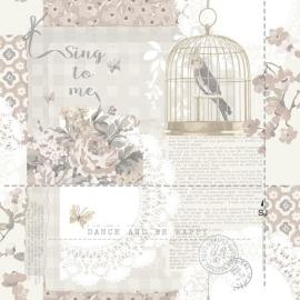 Arthouse Options2 Behang 671301 Nostalgisch/Vogelkooi/Birds/Vogel