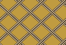 Hookedonwalls Boheme Behang BO23030 Braid/Modern/Grafisch/Ruiten