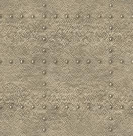 Dutch Wallcoverings Trilogy Behang FD24012 Staal/Metaal/Klinknagels