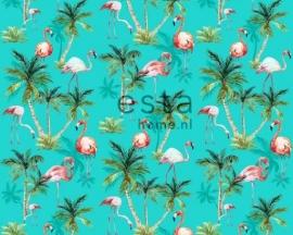 Esta Home Cabana Behang 140-158609 Flamingo/Dieren/Vogels/Tropisch Fotobehang