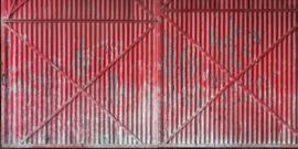 AS Creation AP Digital4 Behang DD108586 Iron Doors/Metalen deuren/Industrieel/Modern/Rood Fotobehang