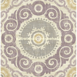 Dutch Wallcoverings Global Style Behang  UE81109 Ornament/Gravure/Suzani