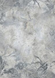 Noordwand Komar Raw Fotobehang RSX4-020 Flower Fossil/Bladeren/Bloemen/Fossielen/NatuurlijkNatuurlijk