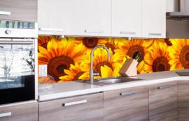 Dimex Zelfklevende Keuken Achterwand Helianthus KL-260-051 Geel/Zonnebloem/Bloemen