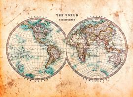 AS Creation Designwalls Fotobehang Dd118702 Hemispheres 1/Halfrond/Wereldkaart/Map/Travelling