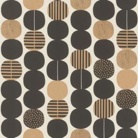 Onszelf Amazing Behang 539738 Modern/Retro/Linnen Structuur/Ballen/Stippen