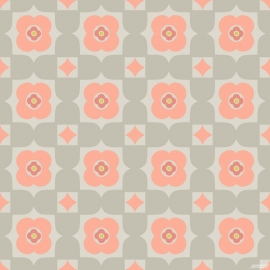 Noordwand Cozz Smile Behang 61170-04 Retro/Modern/60/70 jaren/Bloem
