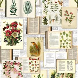 Esta Home Greenhouse Behang 158825 Vintage/Planten/Bloemen/Natuur Fotobehang