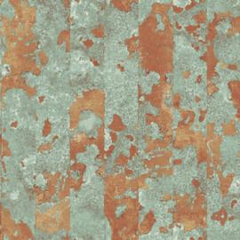 Noordwand Grunge Behang G45361 Strepen/Modern/Groen/Koper
