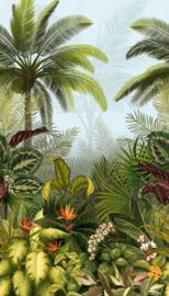 Dutch Wallcoverings Jungle Fever Fotobehang JF6001 Branca/Tropical/Botanisch/Planten/Bomen  Behang