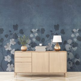 Dutch Wallcoverings One Roll One Motif Behang A41701 Concrete Flower/Beton/Bloemen/Botanisch