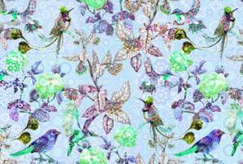 AS Creation Living Walls by Patel Fotobehang DD110207 Exotic Mosaic2/Tegel/Vogels/Bloemen Behang