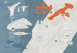 Noordwand/Komar Disney Edition4 Fotobehang 8-4001 Star Wars Technical Plan/Film Behang