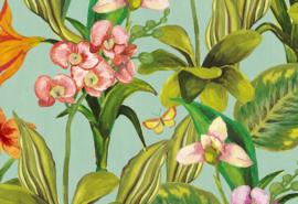 Hookedonwalls Breeze Behang BR24080 Orchidea/Bloemen/Botanisch/Vlinders