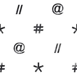 Noordwand #Hashtag Behang 11036 Computer/Tekens/Hashtag/Modern/Tiener/Zwart/Wit