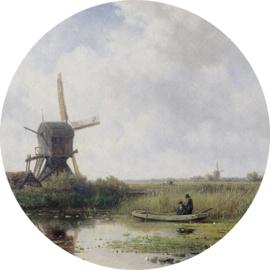 Painted Memories 2 Fotobehang Circle 8044C Dutch Landscape/Landschap/Molen/Natuur Dutch Wallcoverings