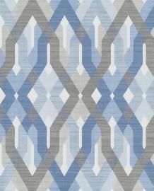 Eijffinger Grenada Behang 367030 Modern/Grafisch/Grijs/Blauw