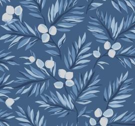 Dutch Wallcoverings Navy, Grey & White Behang BL70712 Takken/Botanisch/Bladeren/Natuurlijk