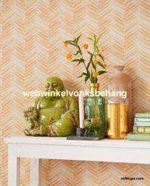 Eijffinger Stripes+  Behang 377091 Strepen/Chevron/Geel/Groen