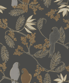 Dutch Wallcoverings Jungle Fever Behang JF3401 Marakai/Tropical/Botanisch/Bladeren/Vogels